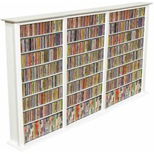 Large Triple Multimedia Storage Rack