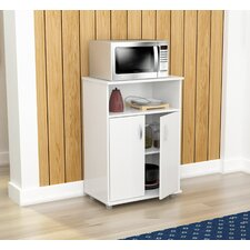 Cannady Microwave Cart with Wood Top