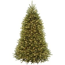 7.5' Green Fir Artificial Christmas Tree with LED 700 Colored and Multi Lights with Stand