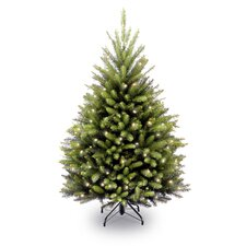 Fir 4.5' Hinged Green Artificial Christmas Tree with 450 Clear Lights