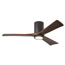 """52"""" Rosalind 3 Blade Hugger Ceiling Fan with Wall Remote and Light Kit"""
