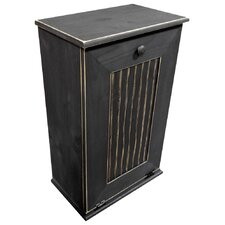 Manual Wooden 10.25 Gallon Pull Out Trash Can in Large