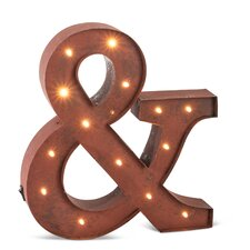 """Lighted """"&"""" Marquee Sign"""