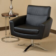 Leontine Leather Arm Chair by Wade Logan