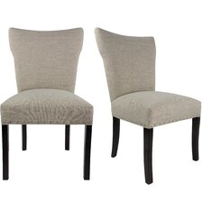 Salmon Upholstered Contemporary Parsons Chair (Set of 2) by Laurel Foundry Modern Farmhouse