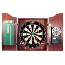 Fullerton 5 Piece Dartboard Cabinet Set with Electronic Scorer by DMI
