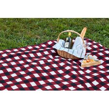 Red Plaid Outdoor Picnic Blanket