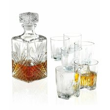 Harrell 7 Piece Whiskey Tumbler and Decanter Set