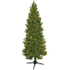 7' Green Spruce Artificial Christmas Tree with 450 Multicolored Lights