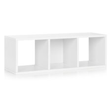"Andrade Bench 12.8"" Eco 3-Cubby Storage Bench and Stackable Organizer"