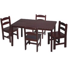 Rickey Kids 5 Piece Table & Chair Set
