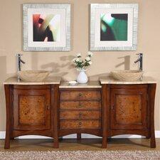 Gilbert 72 Double Bathroom Vanity Set by World Menagerie