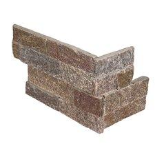 "6"" x 18"" Quartzite Splitface Tile Rust/Copper (Set of 6)"
