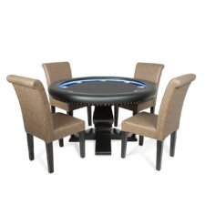 """58"""" Suited Speed Cloth Ginza LED Poker Table Set"""