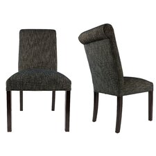 SL3007 Camelback Upholstered Parsons Chair (Set of 2) by Sole Designs