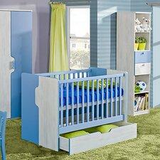 Nuki 2-in-1 Convertible 2 Piece Crib Set with Mattress