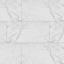 "Carrara 12"" x 24"" Porcelain Field Tile in White"