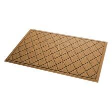 Aqua Gretchen Argyle Doormat