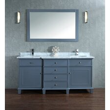 Dixie 60 Double Sink Bathroom Vanity Set with Mirror by Darby Home Co