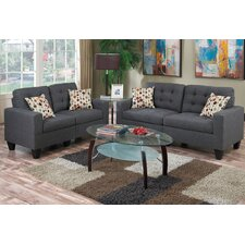 amia 2 piece sofa and loveseat set - Blue Living Room Set