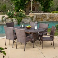 Barney 7 Piece Dining Set by Three Posts™