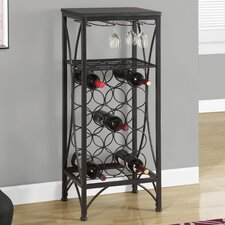 Vickie 15 Bottle Floor Wine Rack