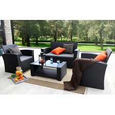 Ferreira 4 Piece Deep Seating Group with Cushion by Varick Gallery®