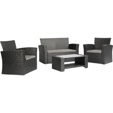 Ferreira 4 Piece Deep Seating Group with Cushion