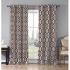 Ashmont Geometric Blackout Thermal Grommet Curtain Panels (Set of 2)