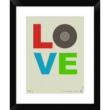 Love Poster' Framed Textual Art  by Naxart