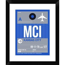 MCI Kansas City Luggage Tag 2' Framed Graphic Art Print by Naxart