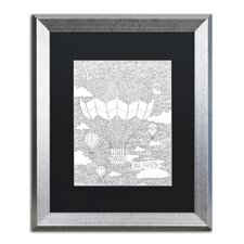Love is in the Air' by Hello Angel Framed Graphic Art  by Trademark Fine Art