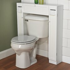 "Free Standing 34"" W x 38.5"" H Over the Toilet Storage"