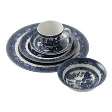 Classic Willow Blue 5 Piece Place Setting, Service for 1