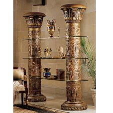 Egyptian 82 Accent Shelves Bookcase by Design Toscano