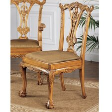 English Chippendale Fabric Side Chair by Design Toscano