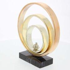 Tricolor Metal Ring Sculpture