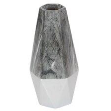 White/ Gray Ceramic Table Vase