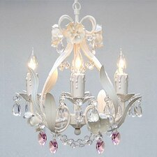 marlee 4 light crystal chandelier - Baby Girl Room Chandelier