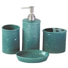 Bessie Savannah 4-Piece Bathroom Accessory Set