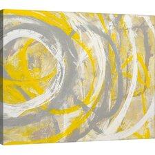Yellow Aura by Erin Ashley Framed Graphic Art Print on Canvas
