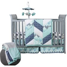 Mosaic 3 Piece Crib Bedding Set