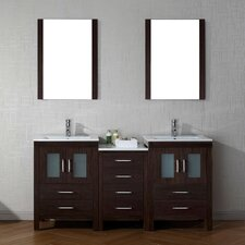 Frausto 66 Double Bathroom Vanity Set with Ceramic Top and Mirror by Brayden Studio