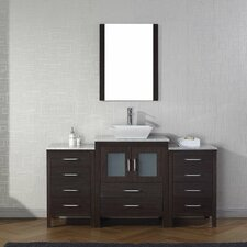 Frausto 60 Single Bathroom Vanity Set with White Marble Top and Mirror by Brayden Studio