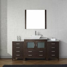 Frausto 72 Single Bathroom Vanity Set with White Marble Top and Mirror by Brayden Studio