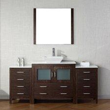 Frausto 71 Single Bathroom Vanity Set with White Stone Top and Mirror by Brayden Studio