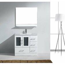 Frausto 36 Single Bathroom Vanity Set with White Top and Mirror by Brayden Studio