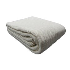 Scottville All Seasons Cotton Cable Throw Blanket