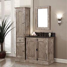 Vice 37 Single Bathroom Vanity Set with Linen Tower by Loon Peak