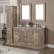 Vice 61 Double Bathroom Vanity Set with Linen Tower by Loon Peak